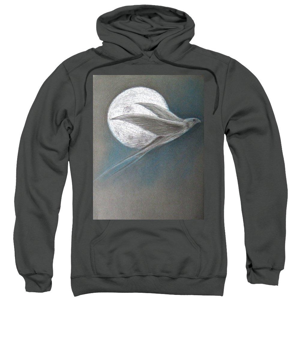 Shaun Sweatshirt featuring the drawing Freedom by Shaun McNicholas