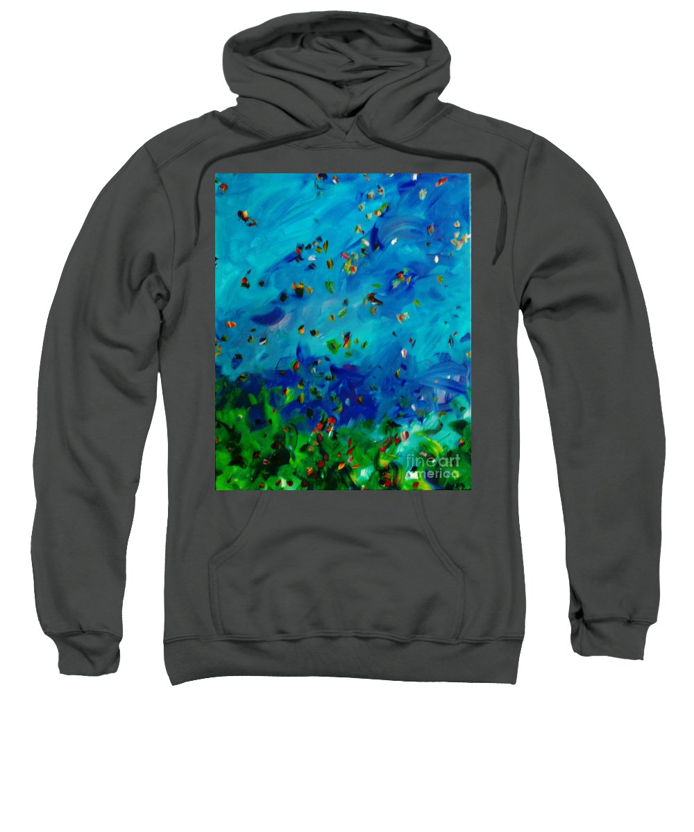 Landscape Sweatshirt featuring the painting Freelancing by Reina Resto