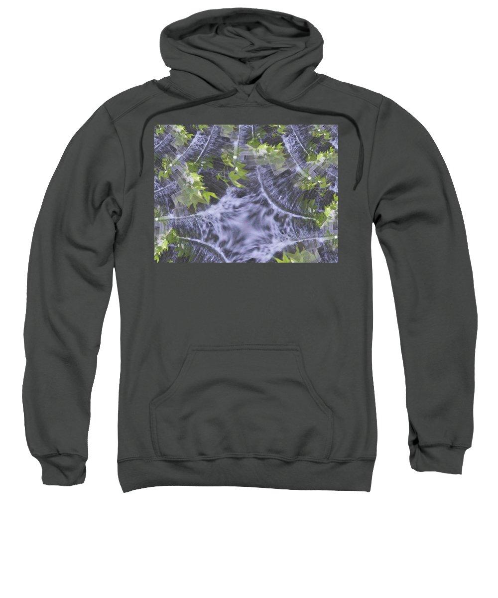 Seattle Sweatshirt featuring the digital art Freeway Park Waterfall 2 by Tim Allen
