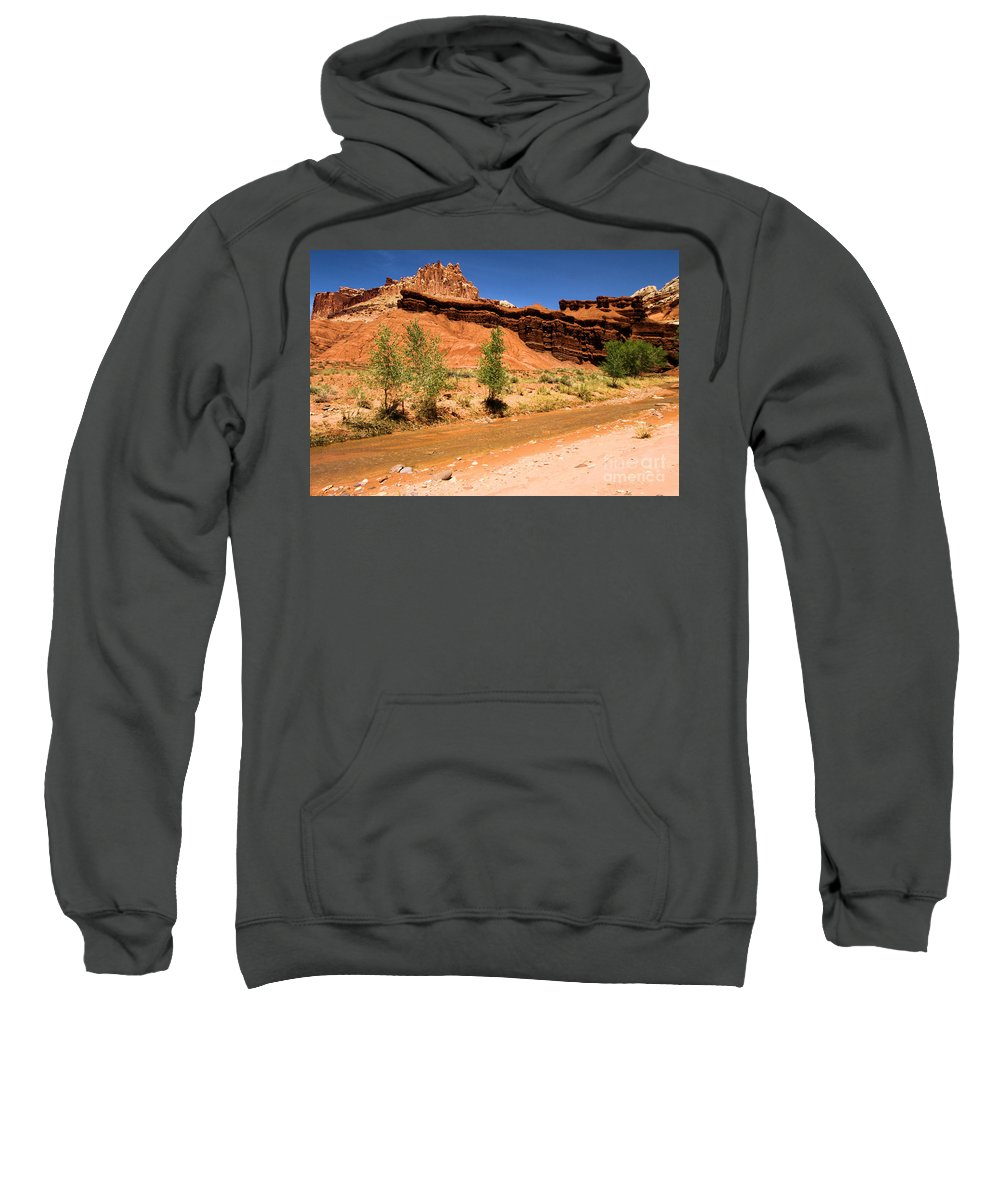 Fremont River Sweatshirt featuring the photograph Fremont River Castle by Adam Jewell