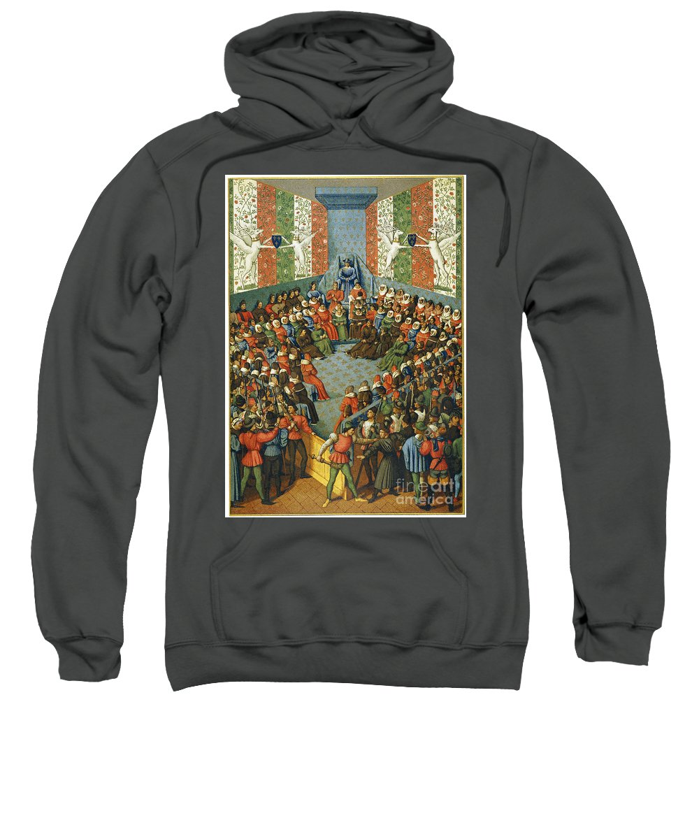 1458 Sweatshirt featuring the photograph French Court, 1458 by Granger