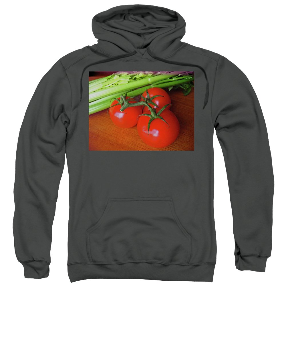 Food Sweatshirt featuring the photograph Fresh Tomatoes by Ira Marcus