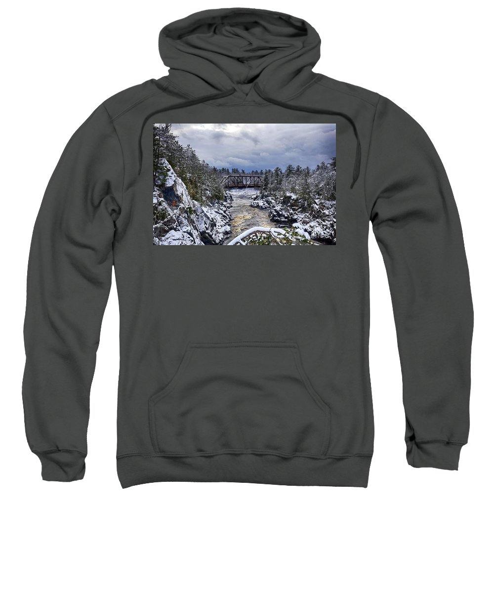 Snow Sweatshirt featuring the photograph Freshly Coated by Bryan Benson