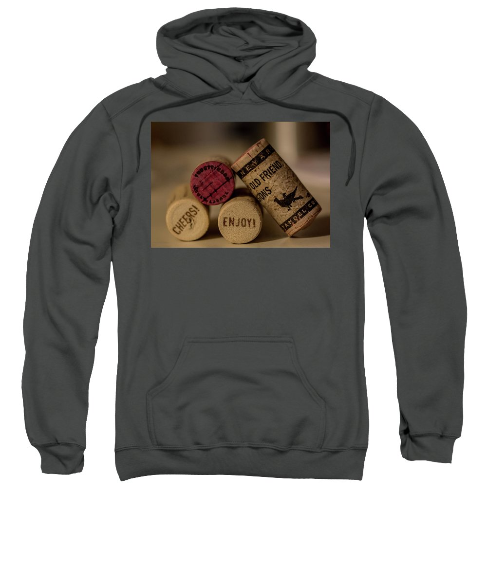 Wine Sweatshirt featuring the photograph Friends And Wine by CJ Burggraff