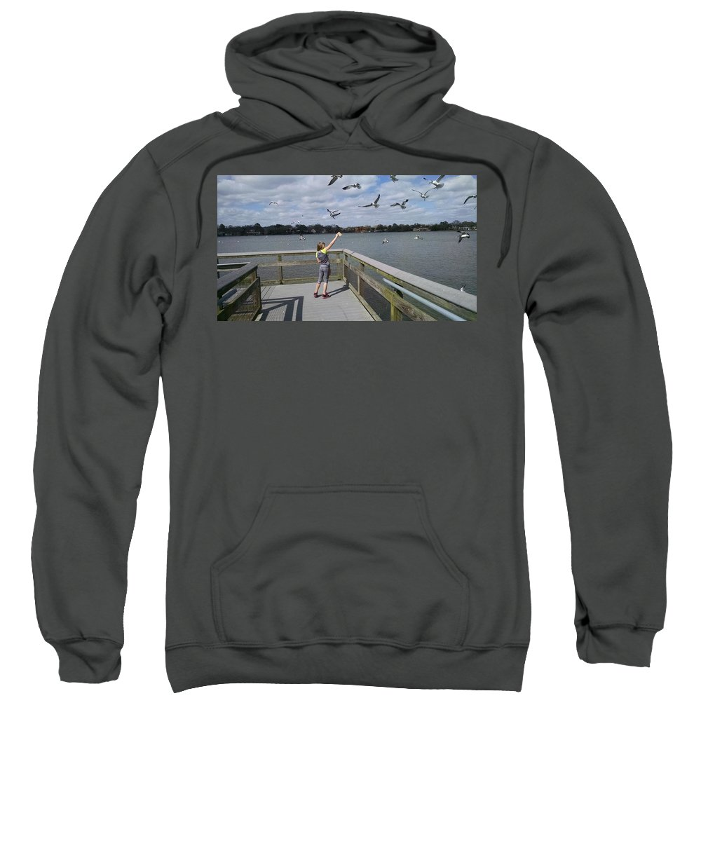 Texas Sweatshirt featuring the photograph Friends by J L Hodges