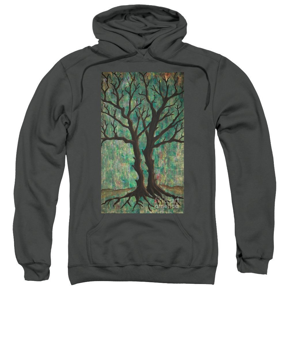 Trees Sweatshirt featuring the painting Friends by Jacqueline Athmann