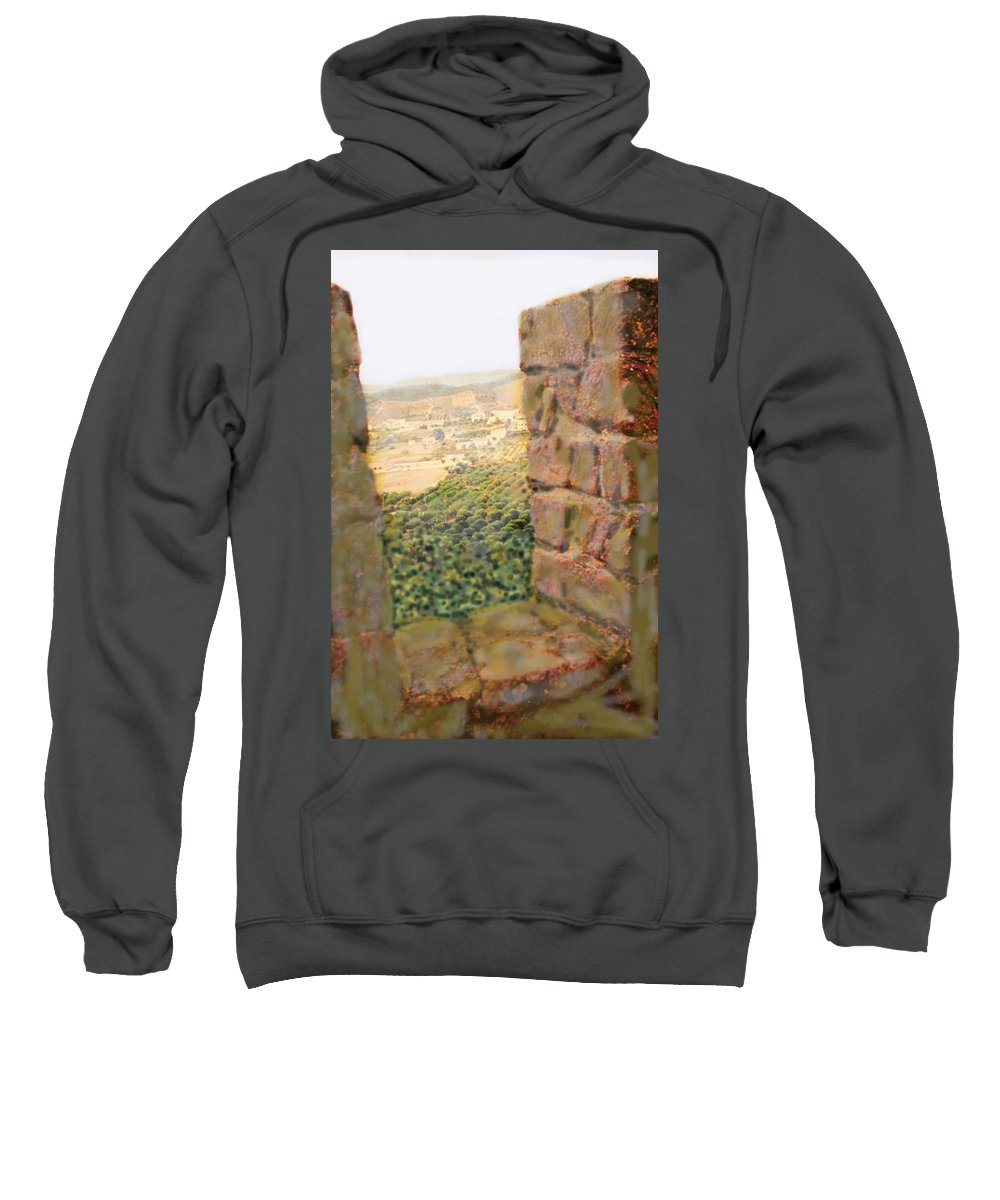 Portugal Sweatshirt featuring the photograph From The Castle Walls by Ian MacDonald