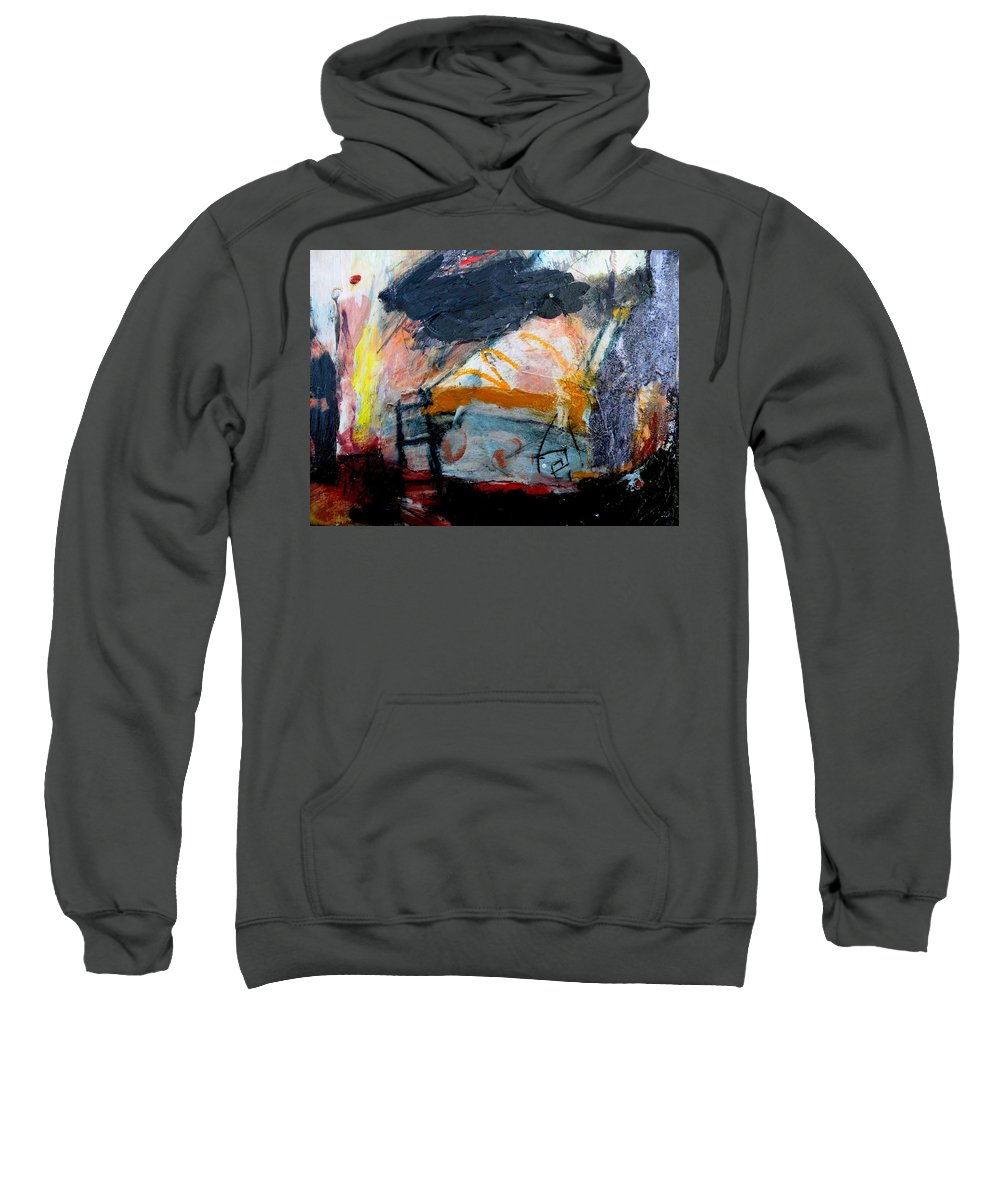 Abstract Sweatshirt featuring the painting From The Fire by Janis Kirstein