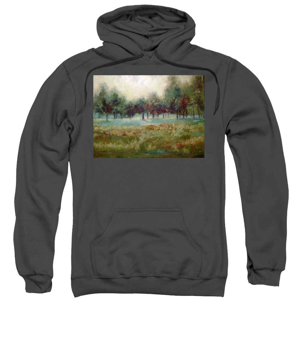 Country Scenes Sweatshirt featuring the painting From The Other Side by Ginger Concepcion
