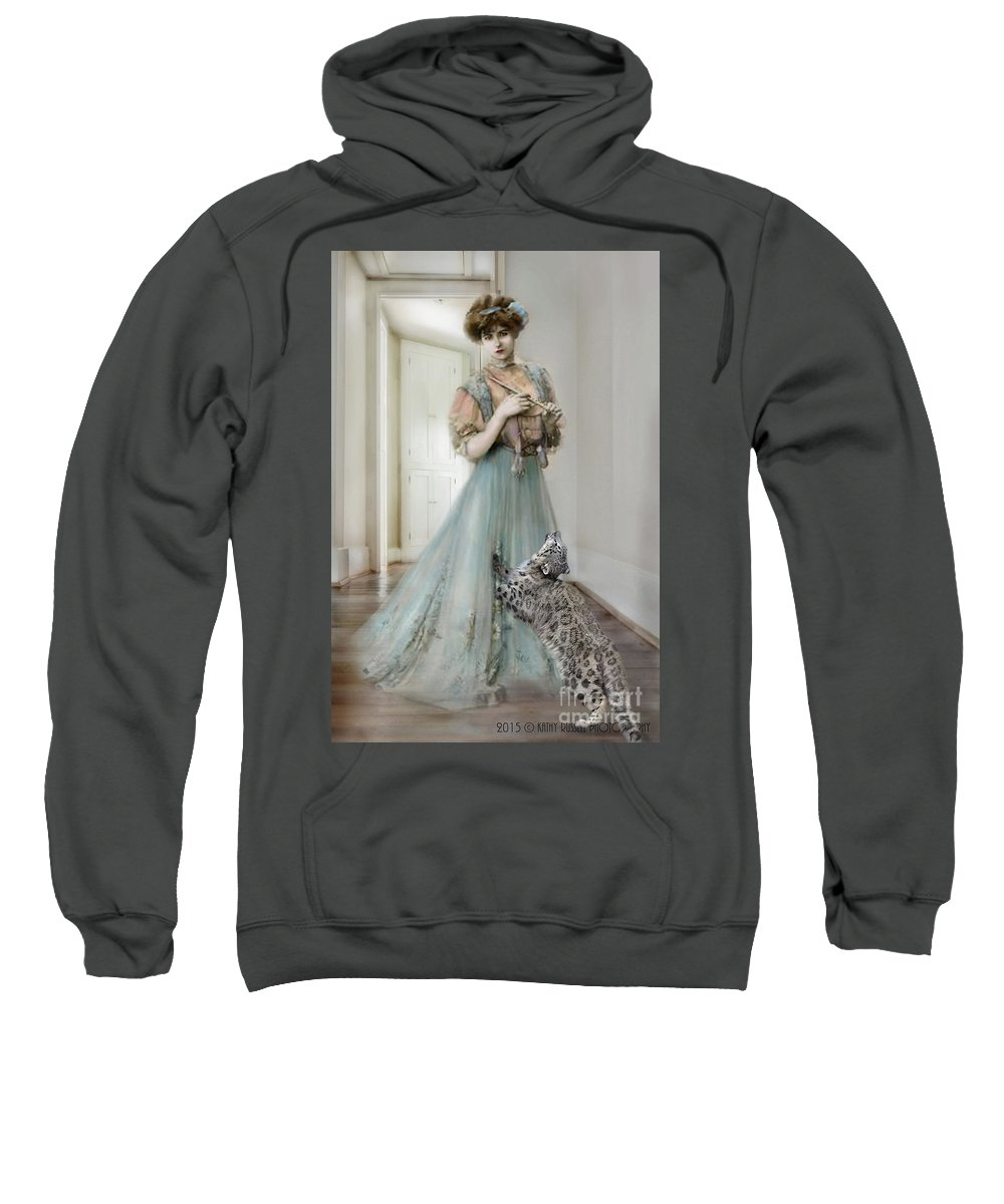 Victorian Sweatshirt featuring the photograph From The Past by Kathy Russell