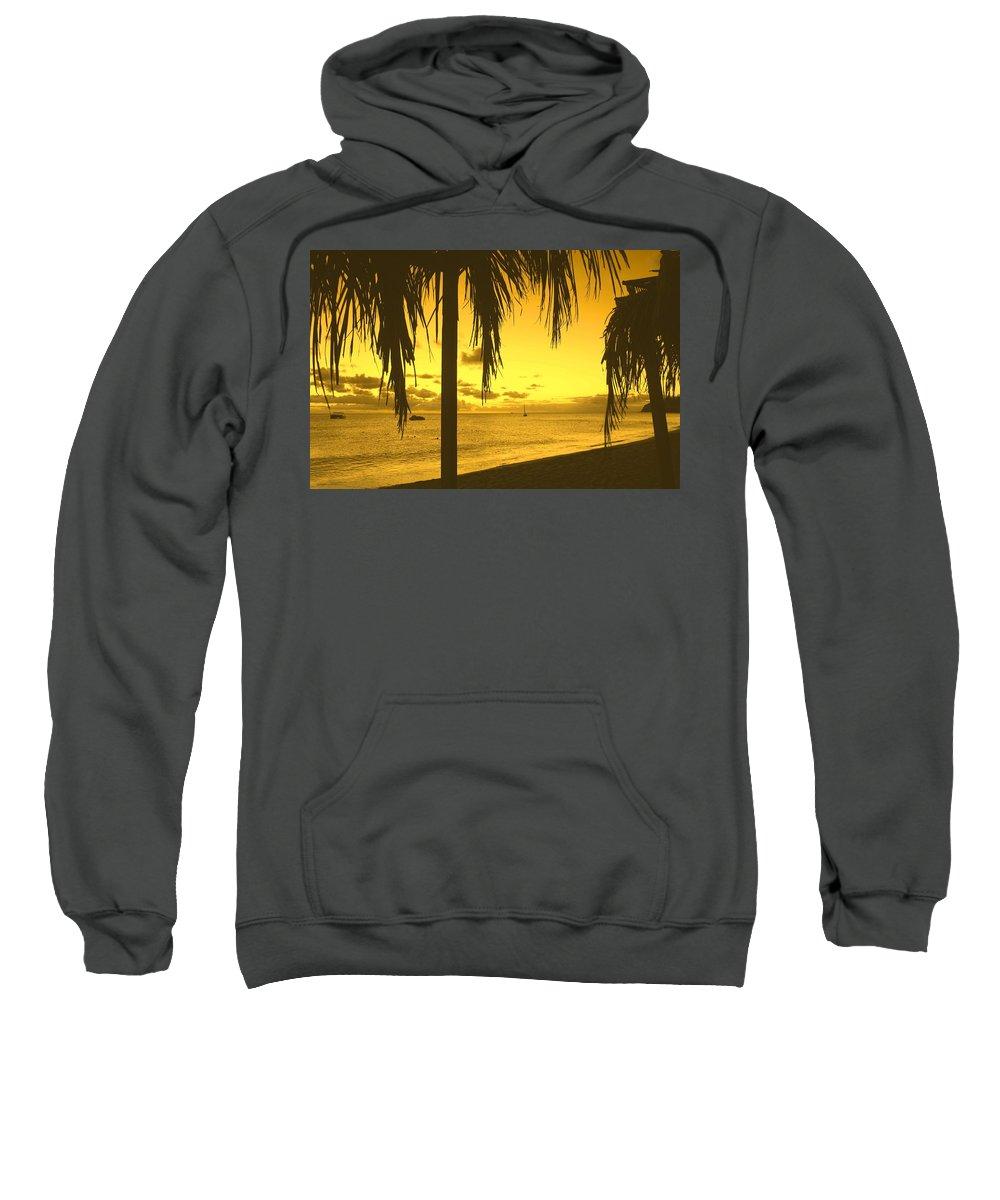 Sunset Sweatshirt featuring the photograph From The Shiggady Shack by Ian MacDonald