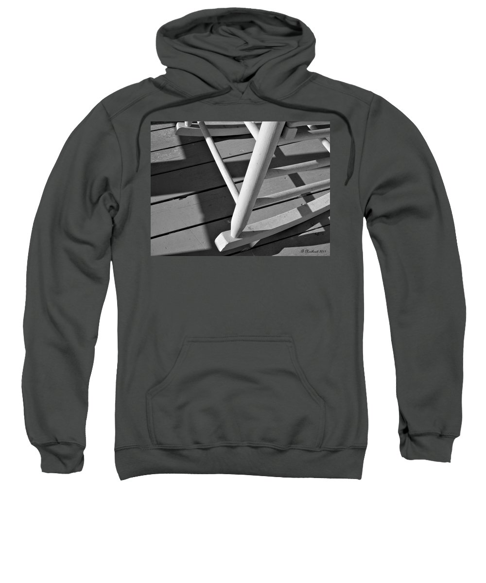 Porch Sweatshirt featuring the photograph Front Porch Rocker by Betty Northcutt