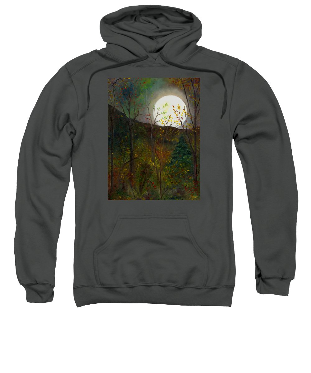 Autumn Sweatshirt featuring the painting Frost Moon by FT McKinstry