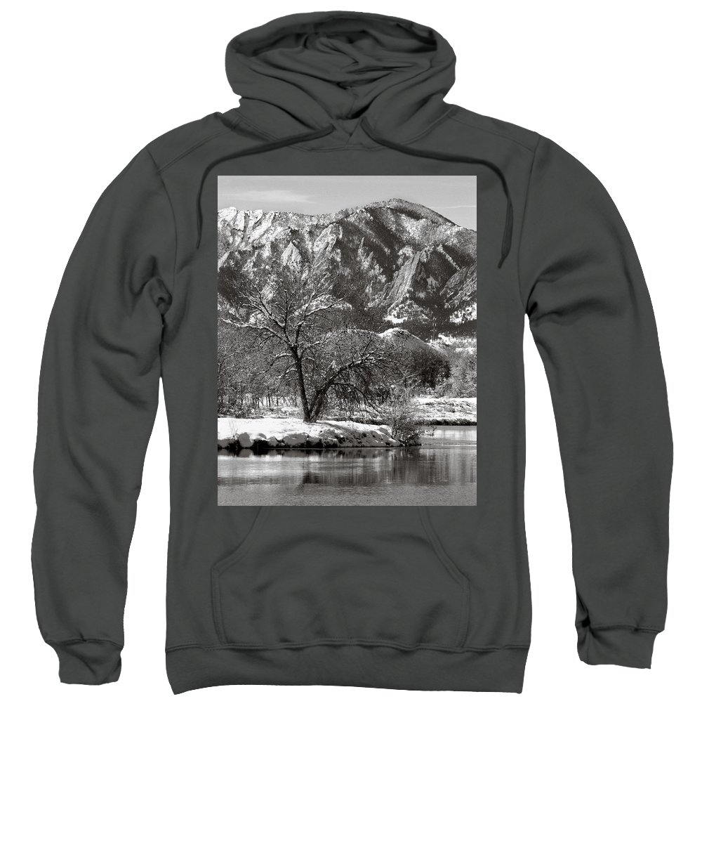 Colorado Sweatshirt featuring the photograph Frosty Flatirons 2 by Marilyn Hunt