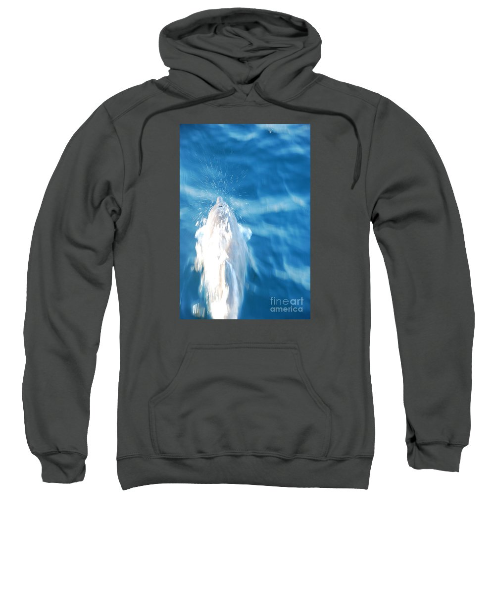 Motion Sweatshirt featuring the photograph Frozen Breathe by Chad Natti