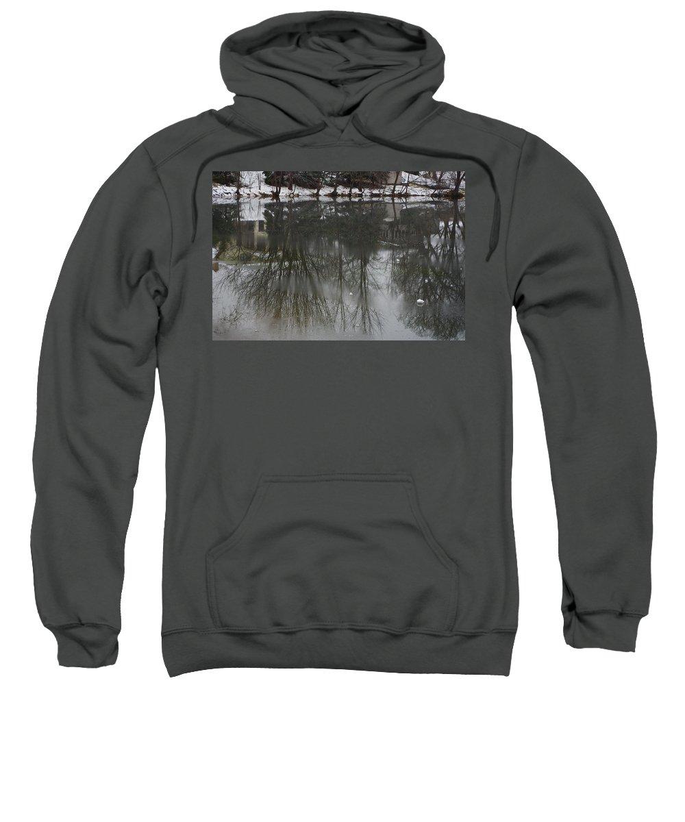 Lake Sweatshirt featuring the photograph Frozen Lake Reflection by Alice Markham