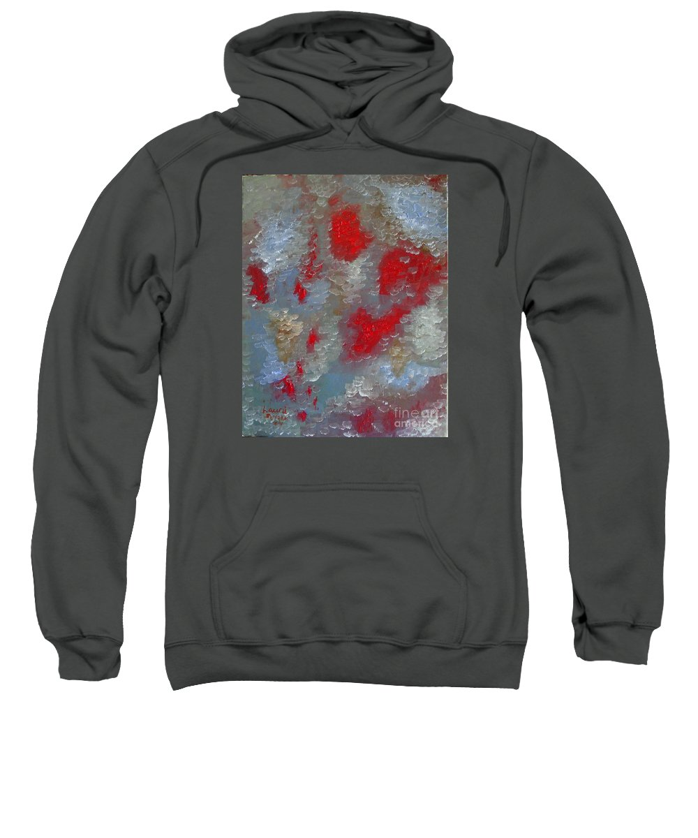 Abstract Sweatshirt featuring the painting Frozen Street by Laurie Morgan