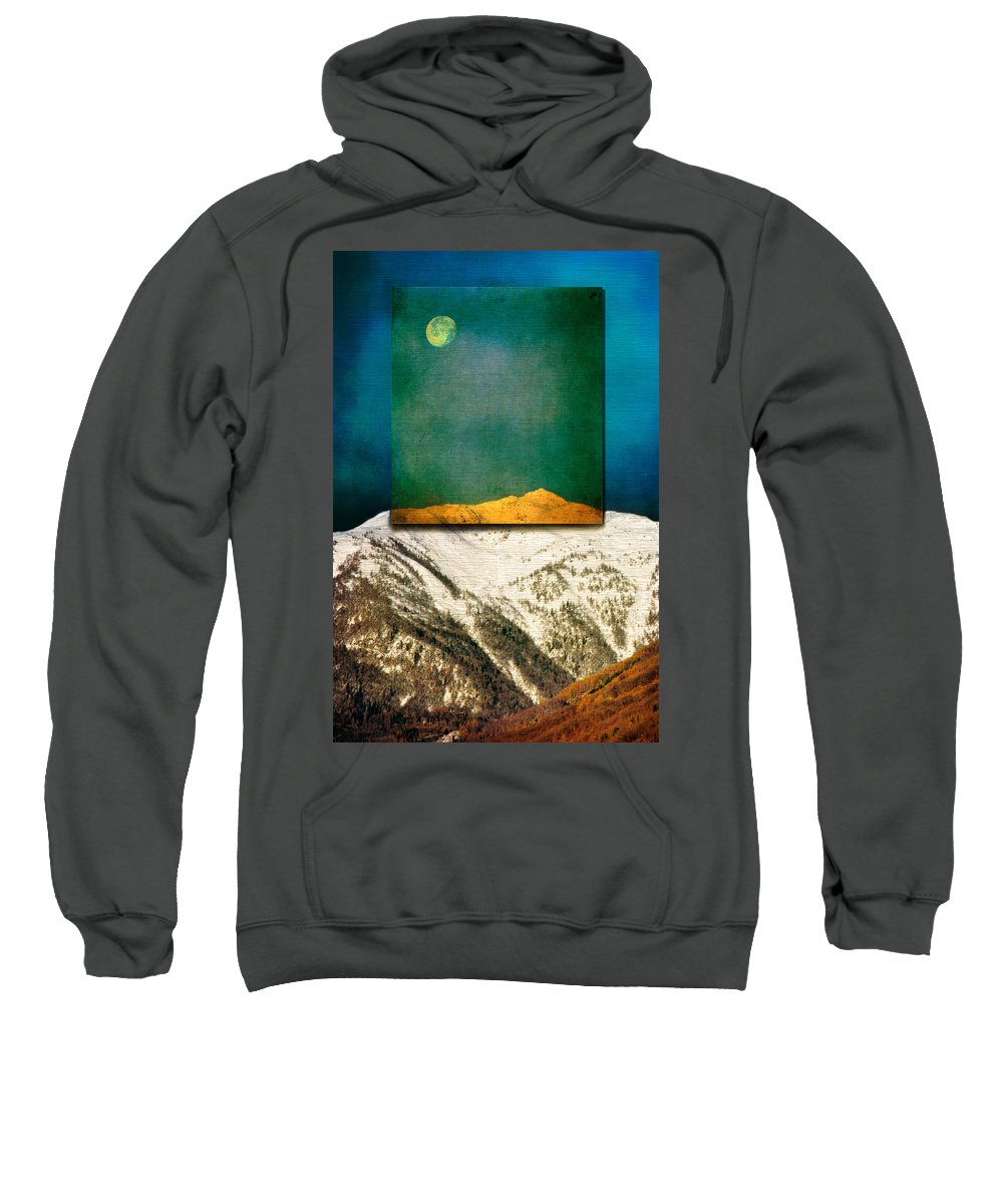 Moon Sweatshirt featuring the photograph Full Moon by Silvia Ganora