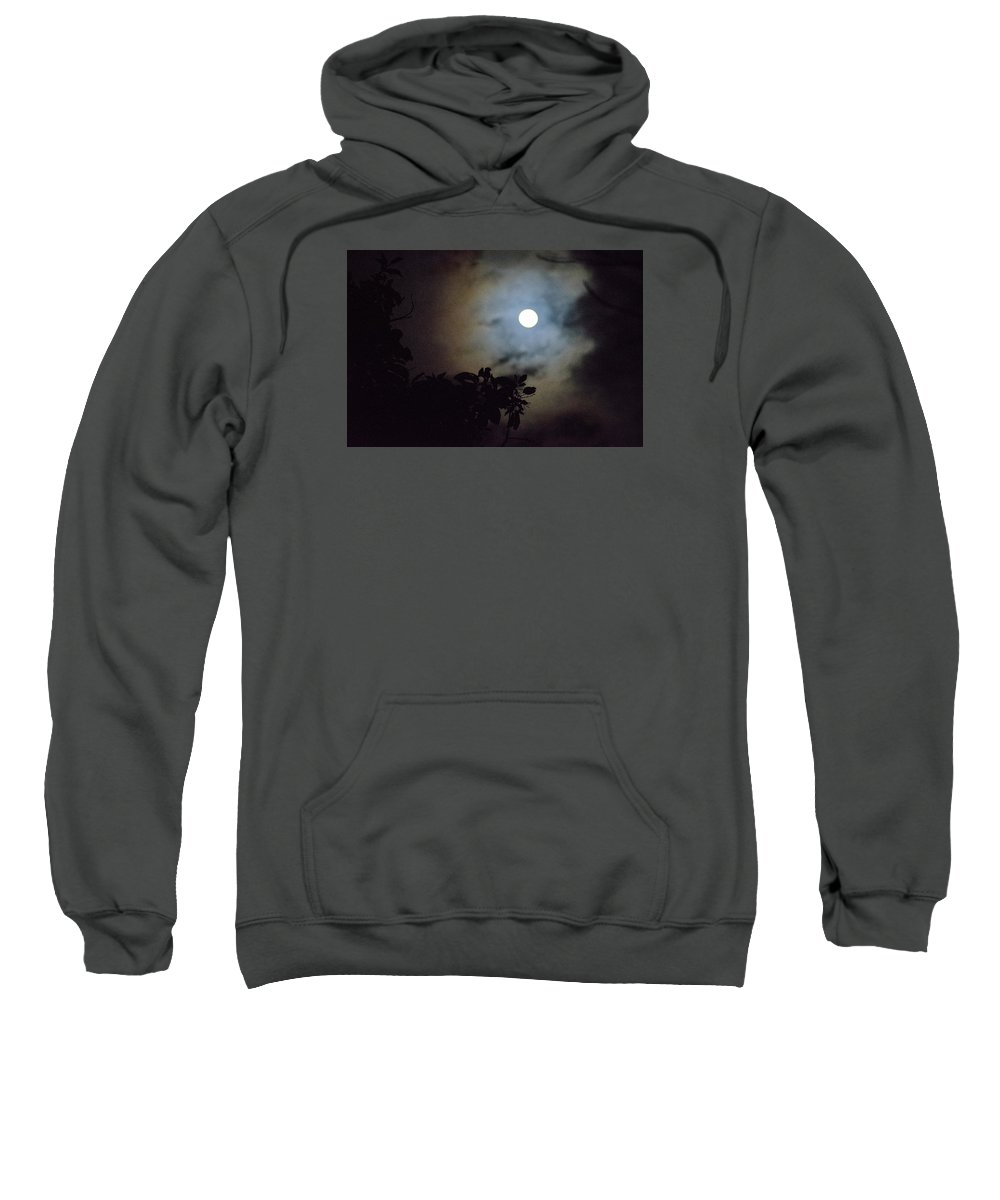 The Moon Sweatshirt featuring the photograph Full Moon by Totto Ponce
