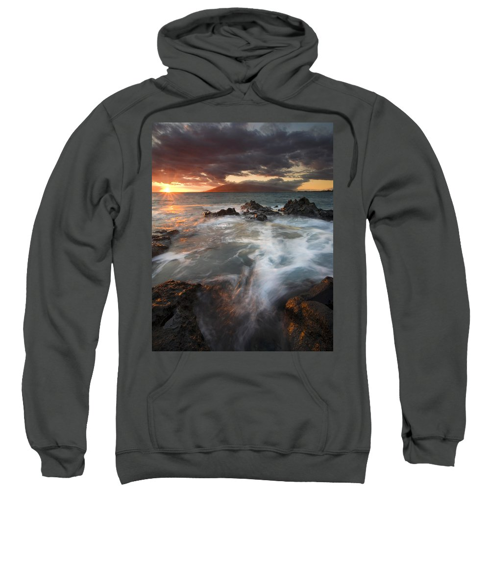 Cauldron Sweatshirt featuring the photograph Full To The Brim by Mike Dawson