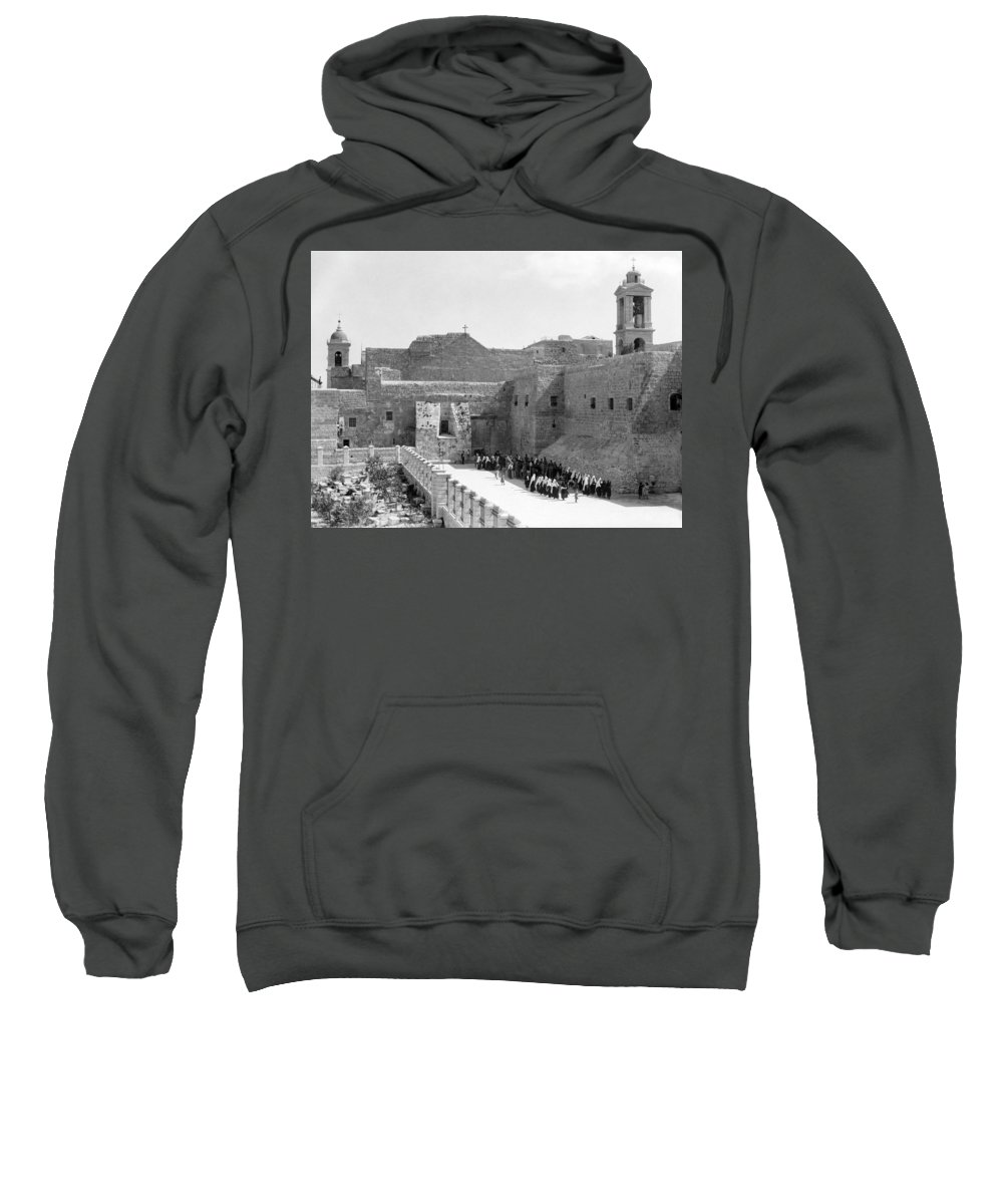 Bethlehem Sweatshirt featuring the photograph Funeral Procession In Bethlehem During 1934 by Munir Alawi