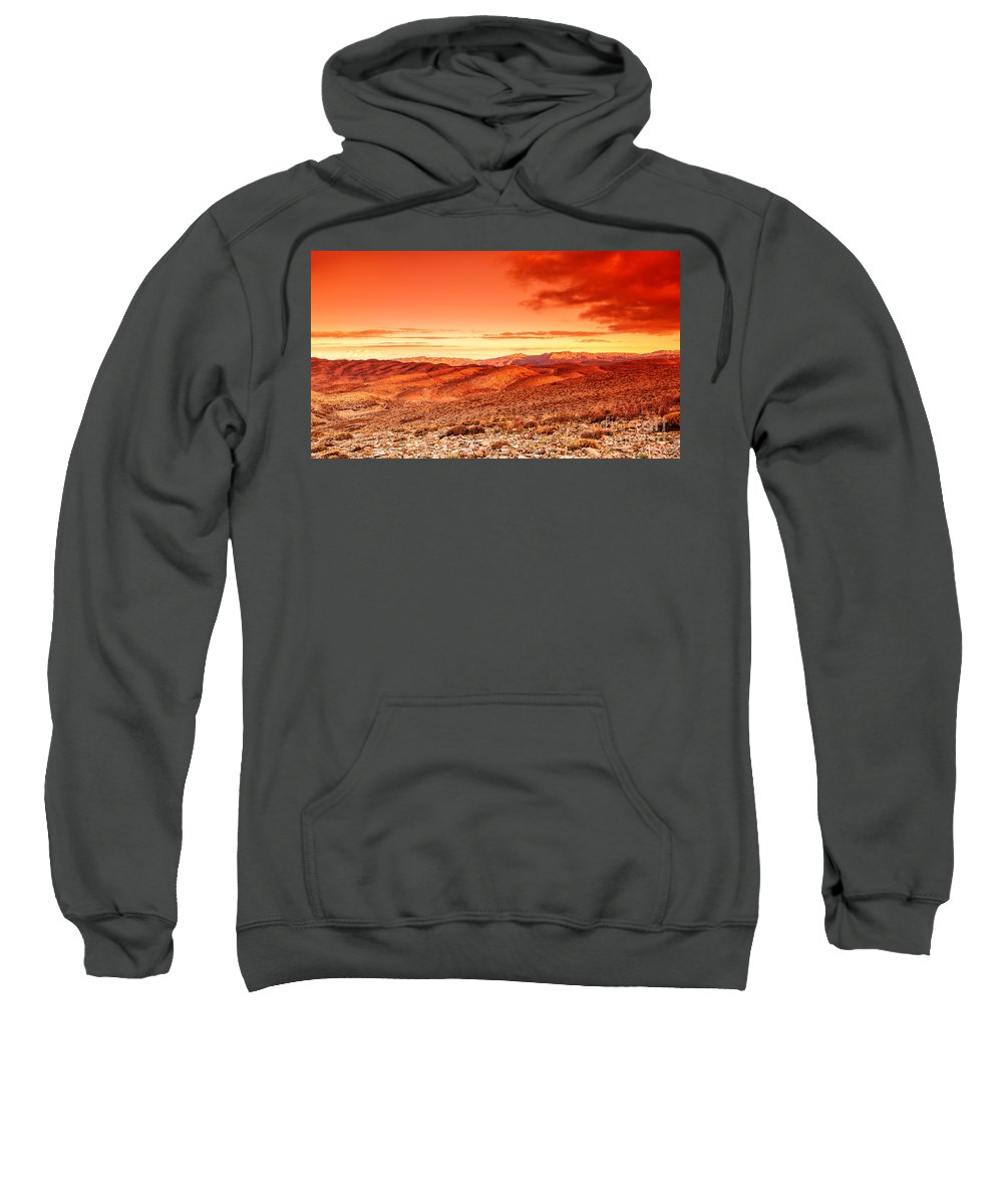 Abandoned Sweatshirt featuring the photograph Futuristic Landscape by Anna Om