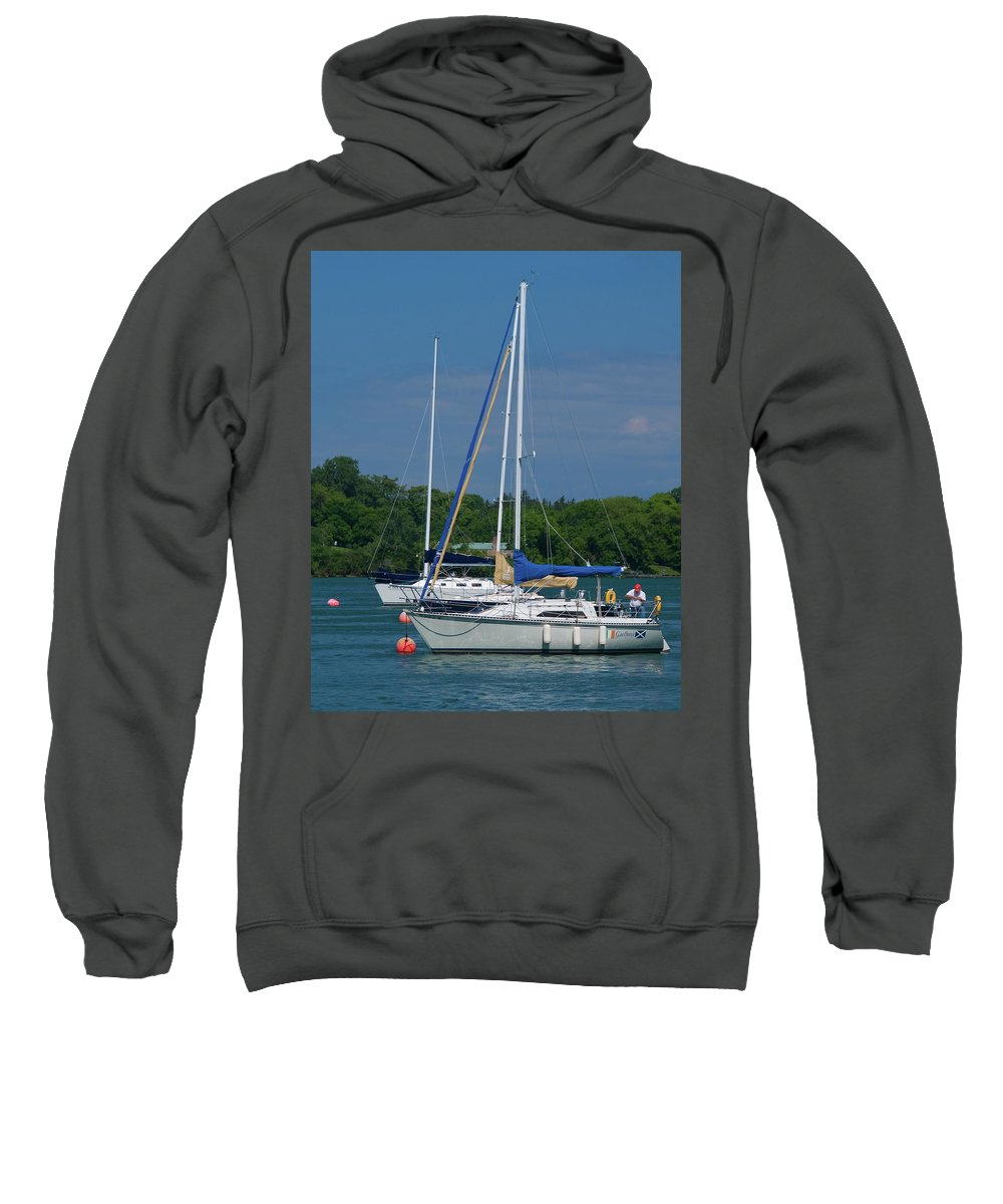 Boat Sweatshirt featuring the photograph Gaelforce 10916 by Guy Whiteley