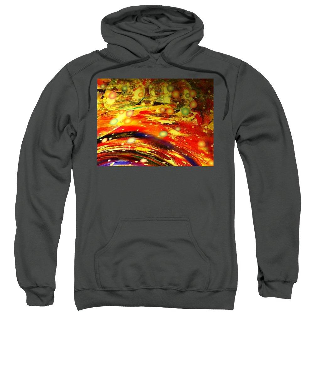 Galaxy Sweatshirt featuring the digital art Galaxy by Natalie Holland