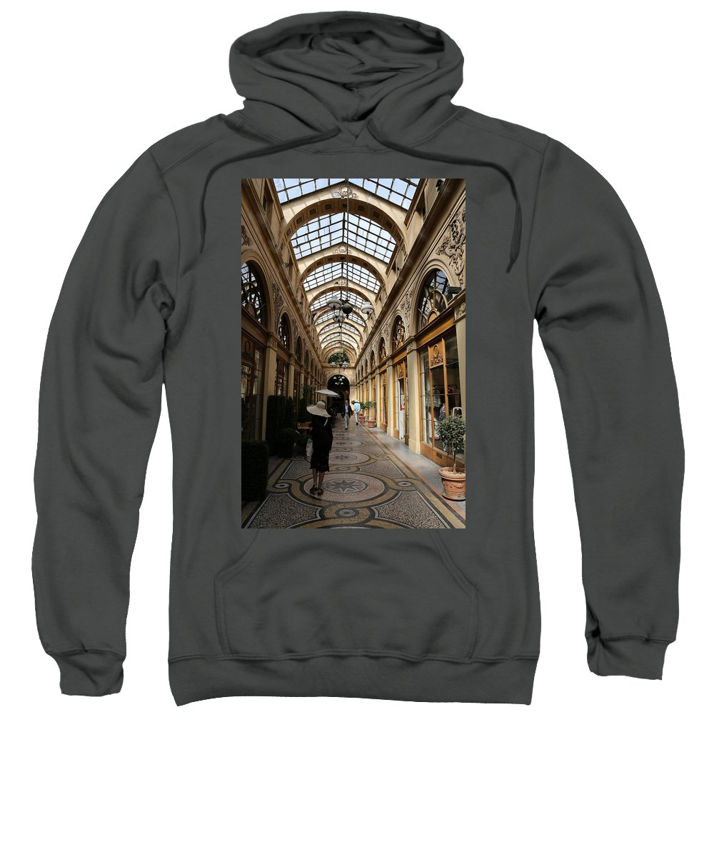 Paris Sweatshirt featuring the photograph Galerie Vivienne by Andrew Fare