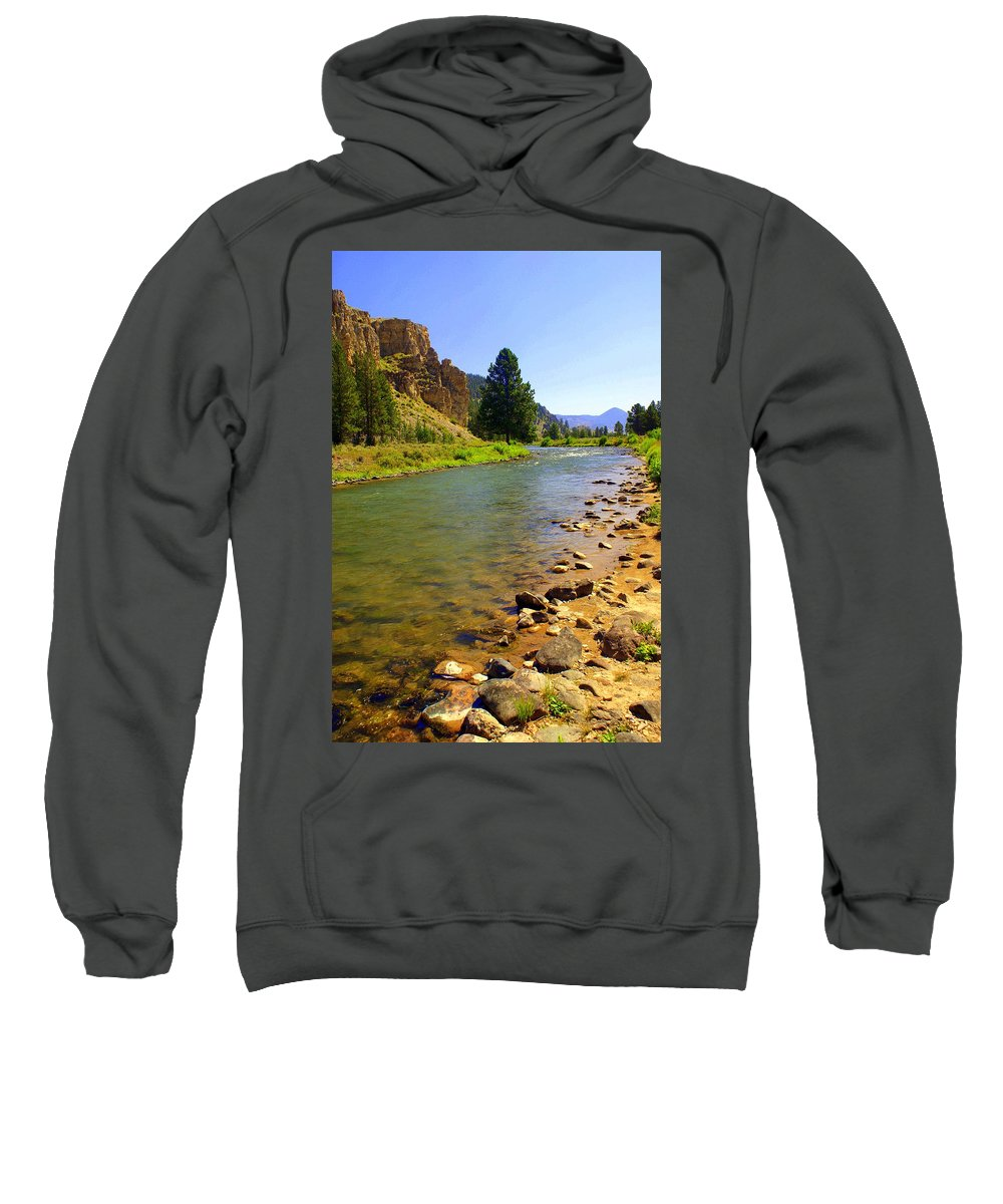 Gallitan River Sweatshirt featuring the photograph Gallitan River 1 by Marty Koch