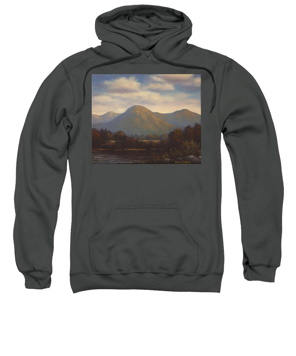 Landscape Sweatshirt featuring the painting Galway Landscape by Sean Conlon