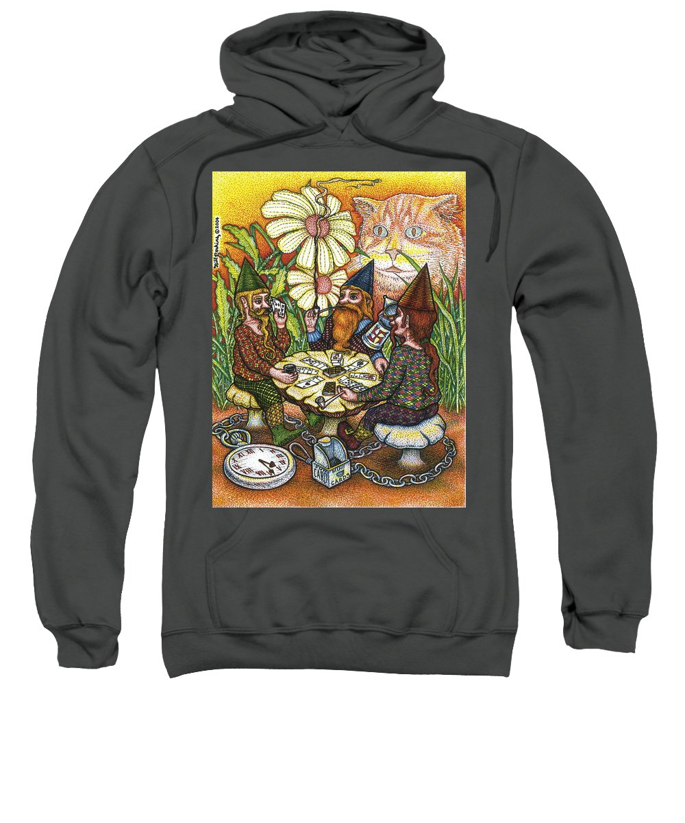 Gnomes Sweatshirt featuring the drawing Game Triangle by Bill Perkins