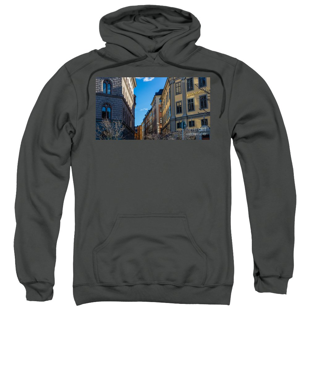 Gamla Stan Sweatshirt featuring the photograph Gamla Stan 2 by Suzanne Luft