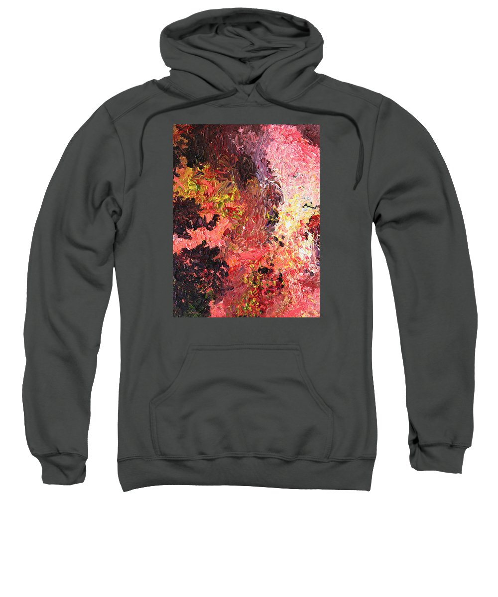 Fusionart Sweatshirt featuring the painting Ganesh In The Garden by Ralph White
