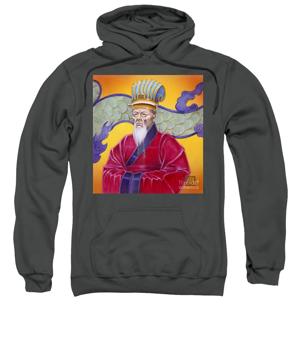 Oriental Sweatshirt featuring the painting Gao Zhang by Melissa A Benson
