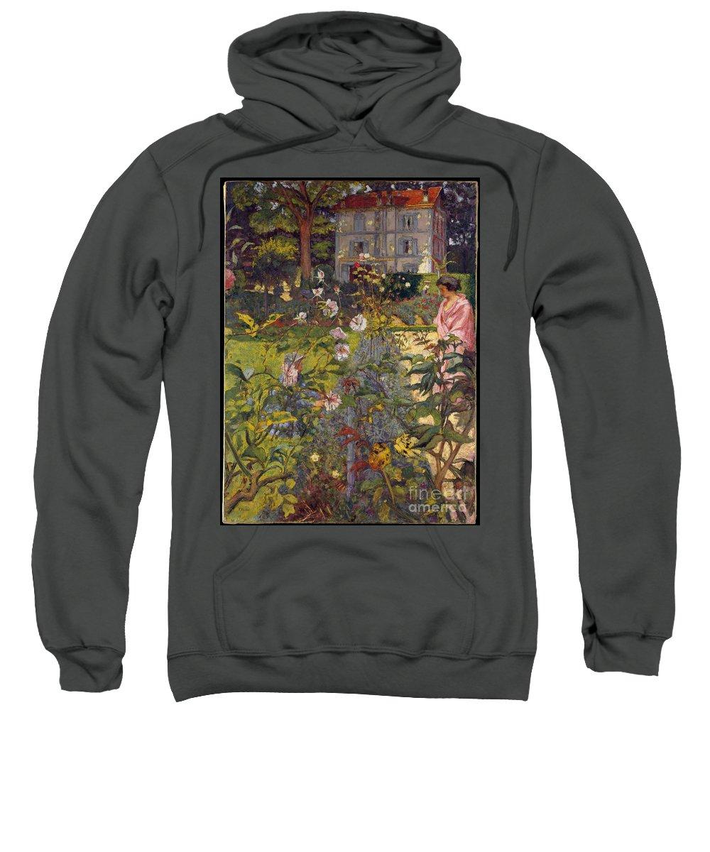 Edouard Vuillard Sweatshirt featuring the painting Garden At Vaucresson by Celestial Images