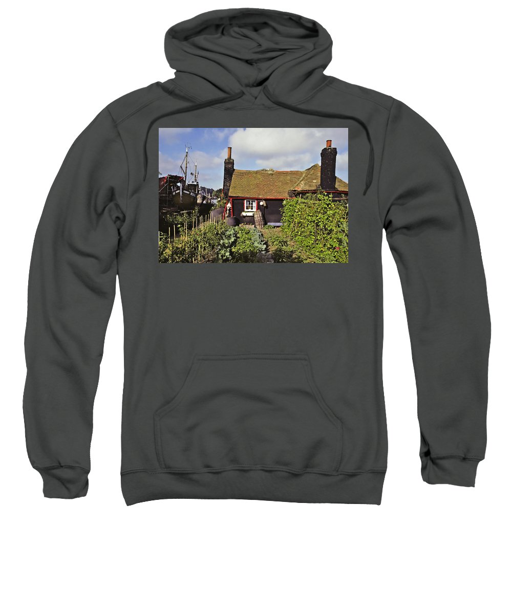 Seaside Sweatshirt featuring the photograph Garden By The Sea by Stephen Anderson