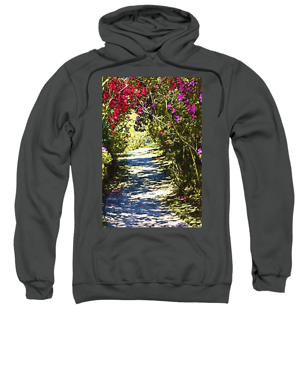 Garden Sweatshirt featuring the photograph Garden by Donna Bentley