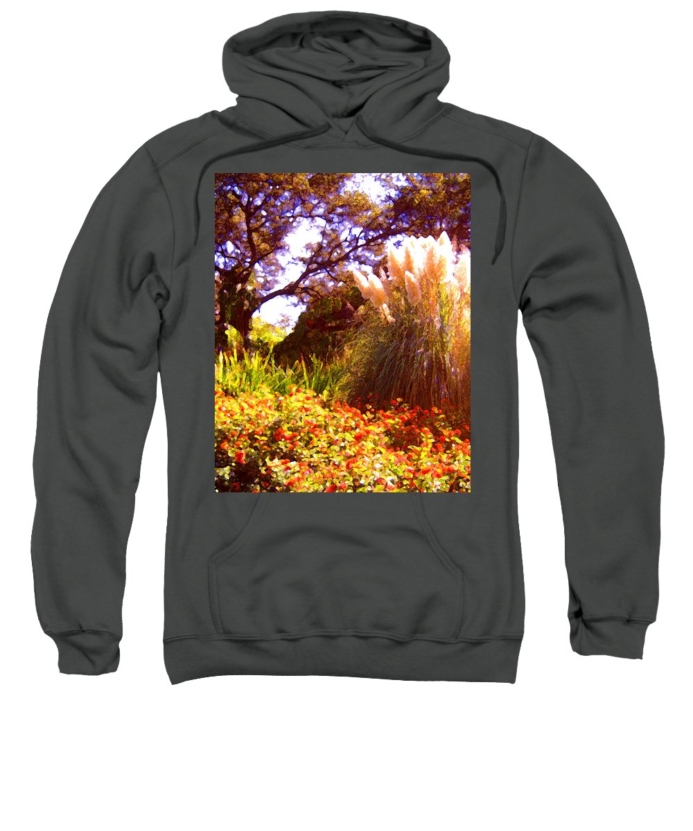 Landscapes Sweatshirt featuring the painting Garden Landscape by Amy Vangsgard