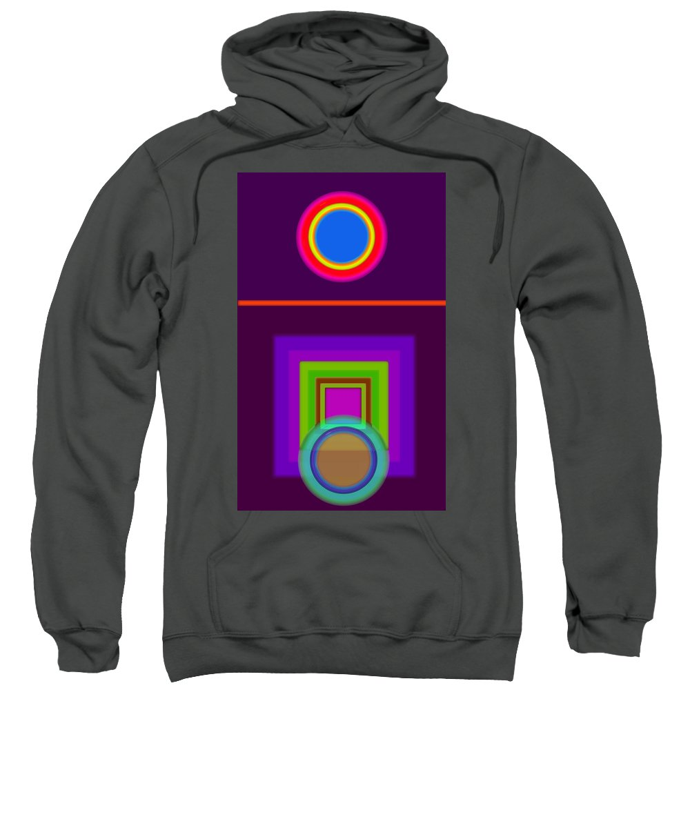 Classical Sweatshirt featuring the digital art Garden Mauve by Charles Stuart
