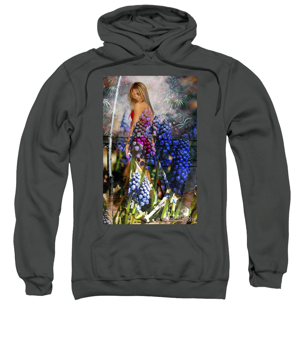 Clay Sweatshirt featuring the photograph Garden Nymph by Clayton Bruster