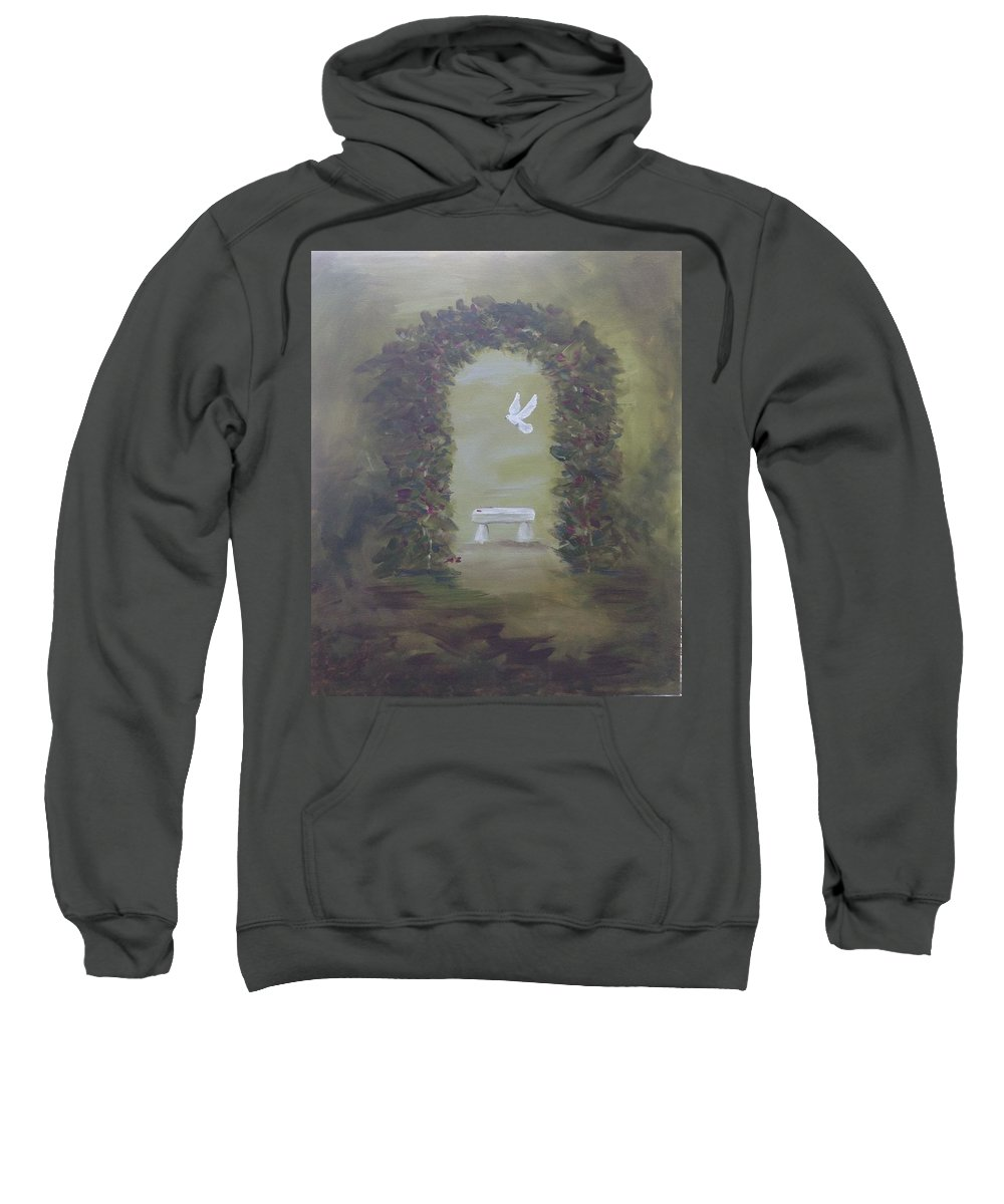Nature Sweatshirt featuring the painting Garden Of Peace by Kimberley Gates