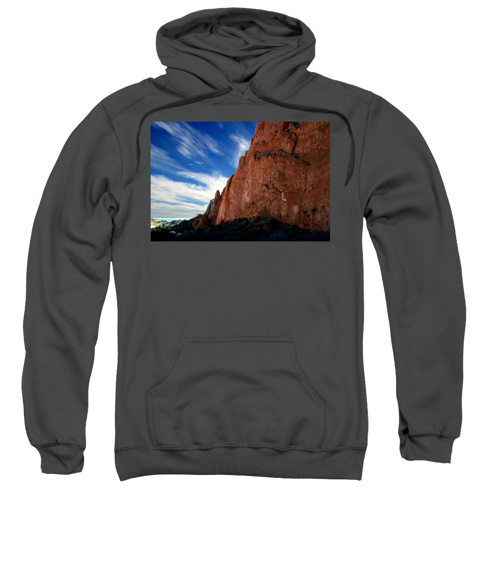 Garden Of The Gods Sweatshirt featuring the photograph Garden Of The Gods by Anthony Jones