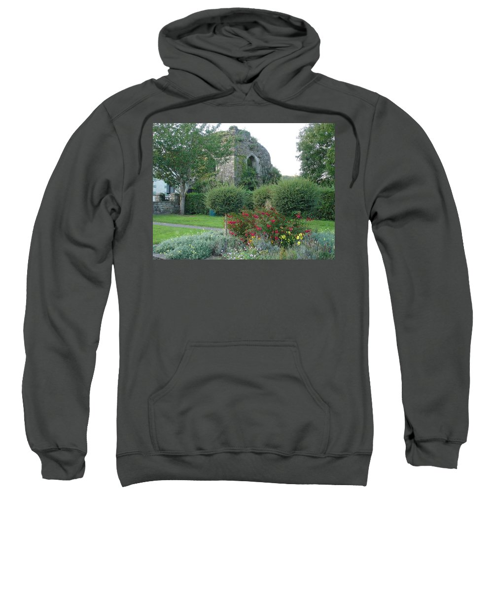 Inistioge Sweatshirt featuring the photograph Garden Path by Kelly Mezzapelle