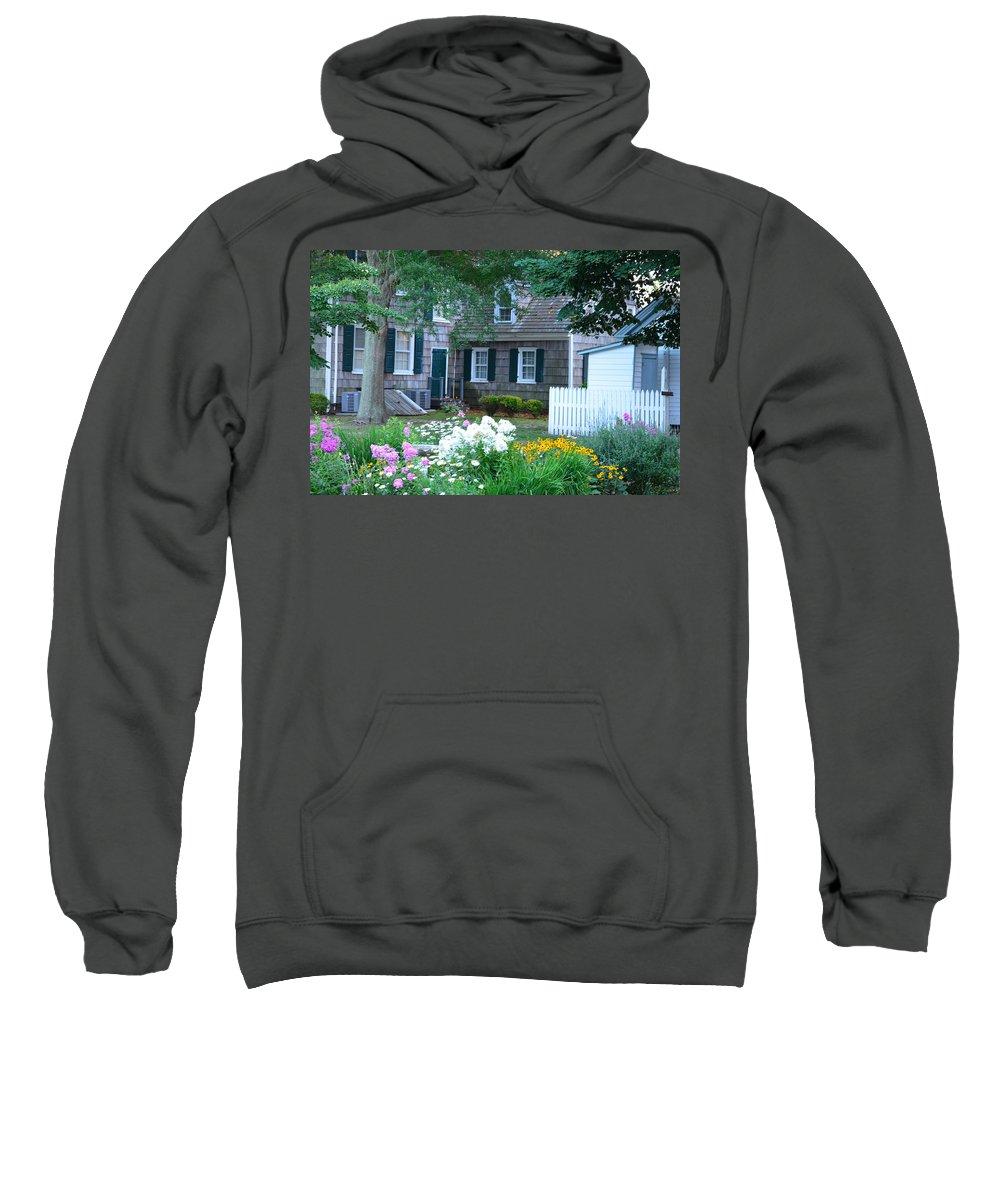 Garden Sweatshirt featuring the photograph Gardens At The Burton-ingram House - Lewes Delaware by Kim Bemis