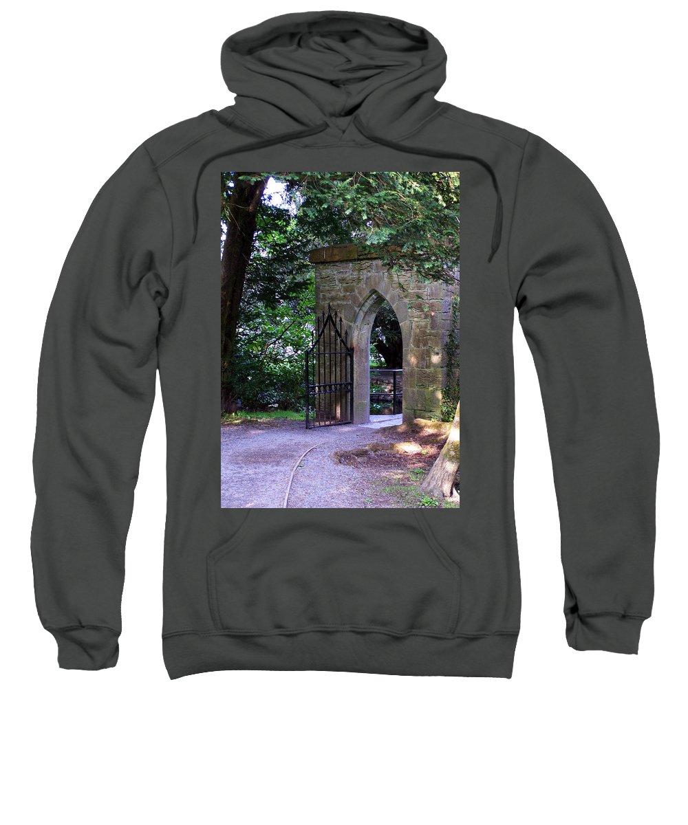 Irish Sweatshirt featuring the photograph Gate At Cong Abbey Cong Ireland by Teresa Mucha