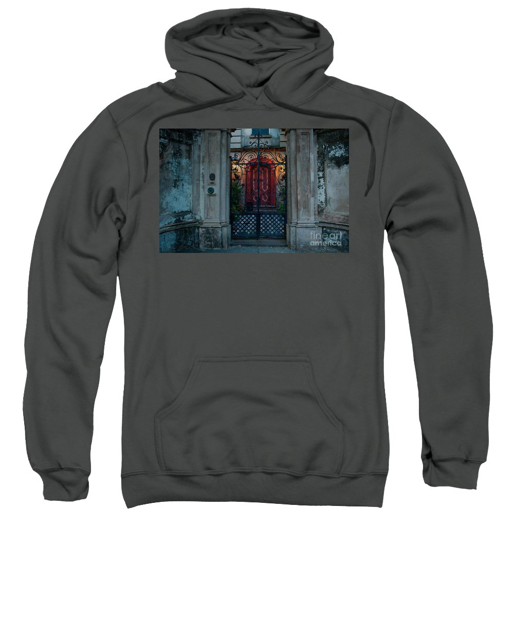 Gates Sweatshirt featuring the photograph Gates Of Charleston Sc by Dale Powell