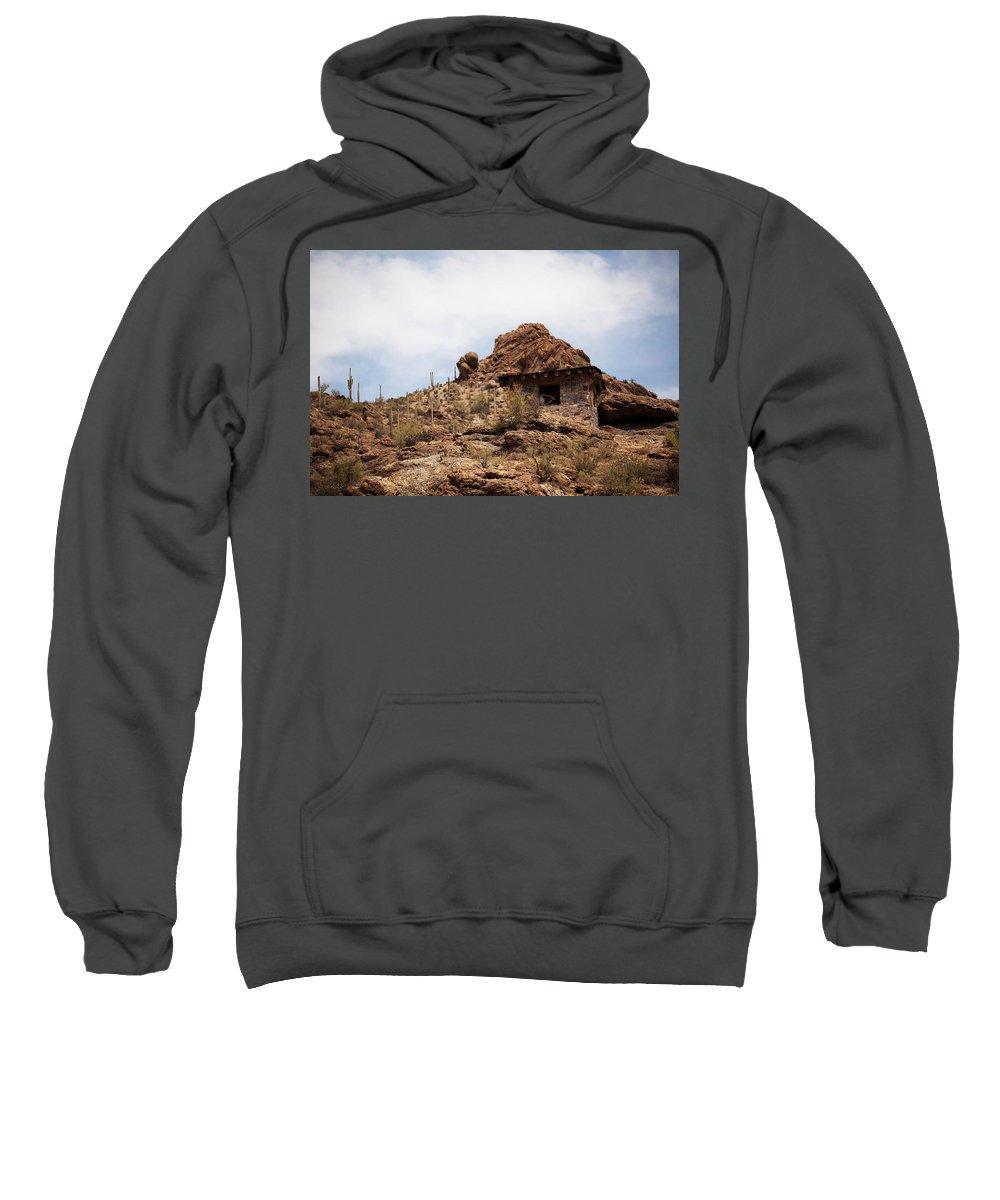 Gates Sweatshirt featuring the photograph Gates Pass by Warren Still