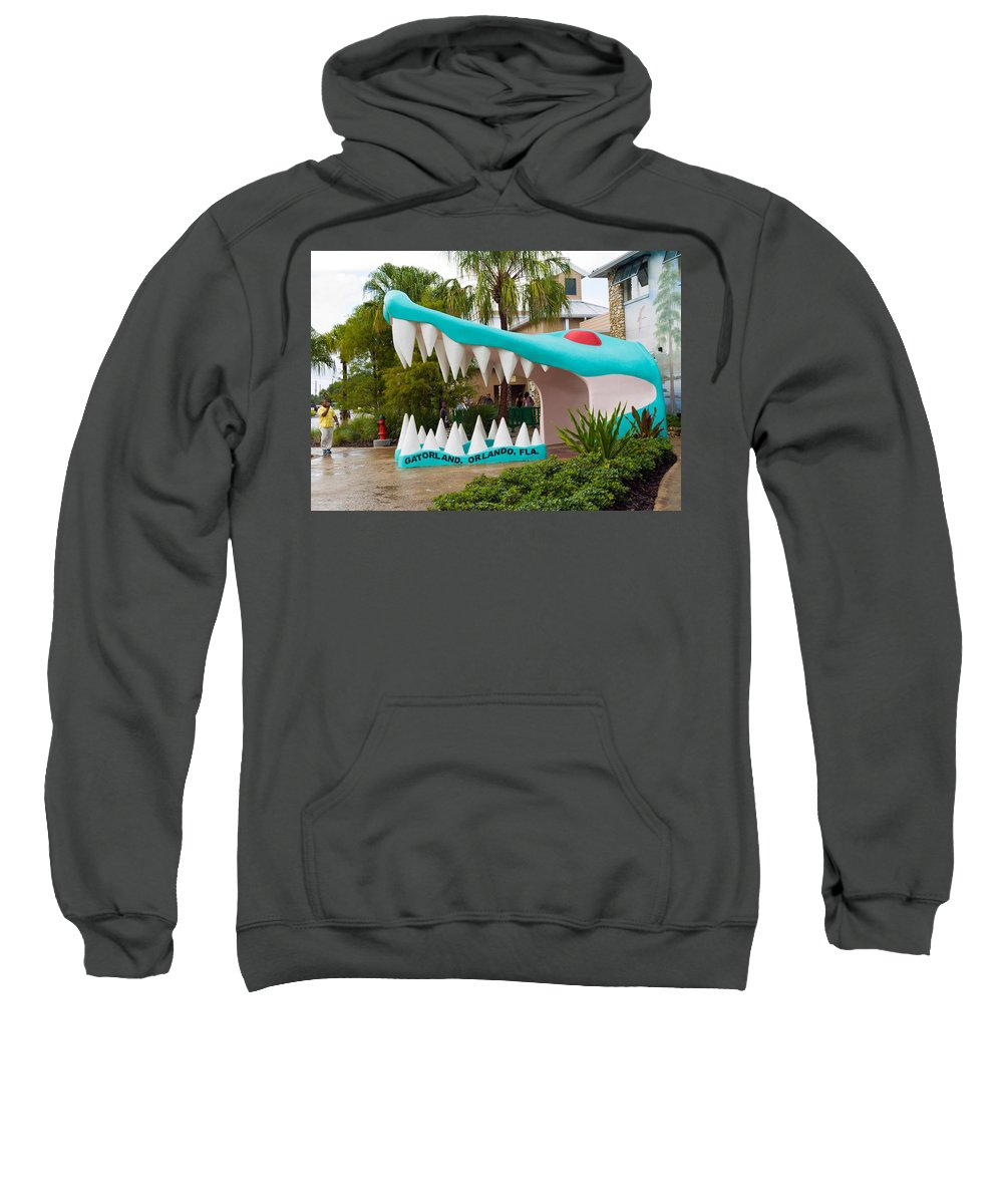 Sweatshirt featuring the photograph Gatorland In Kissimmee Is Just South Of Orlando In Florida by Allan Hughes