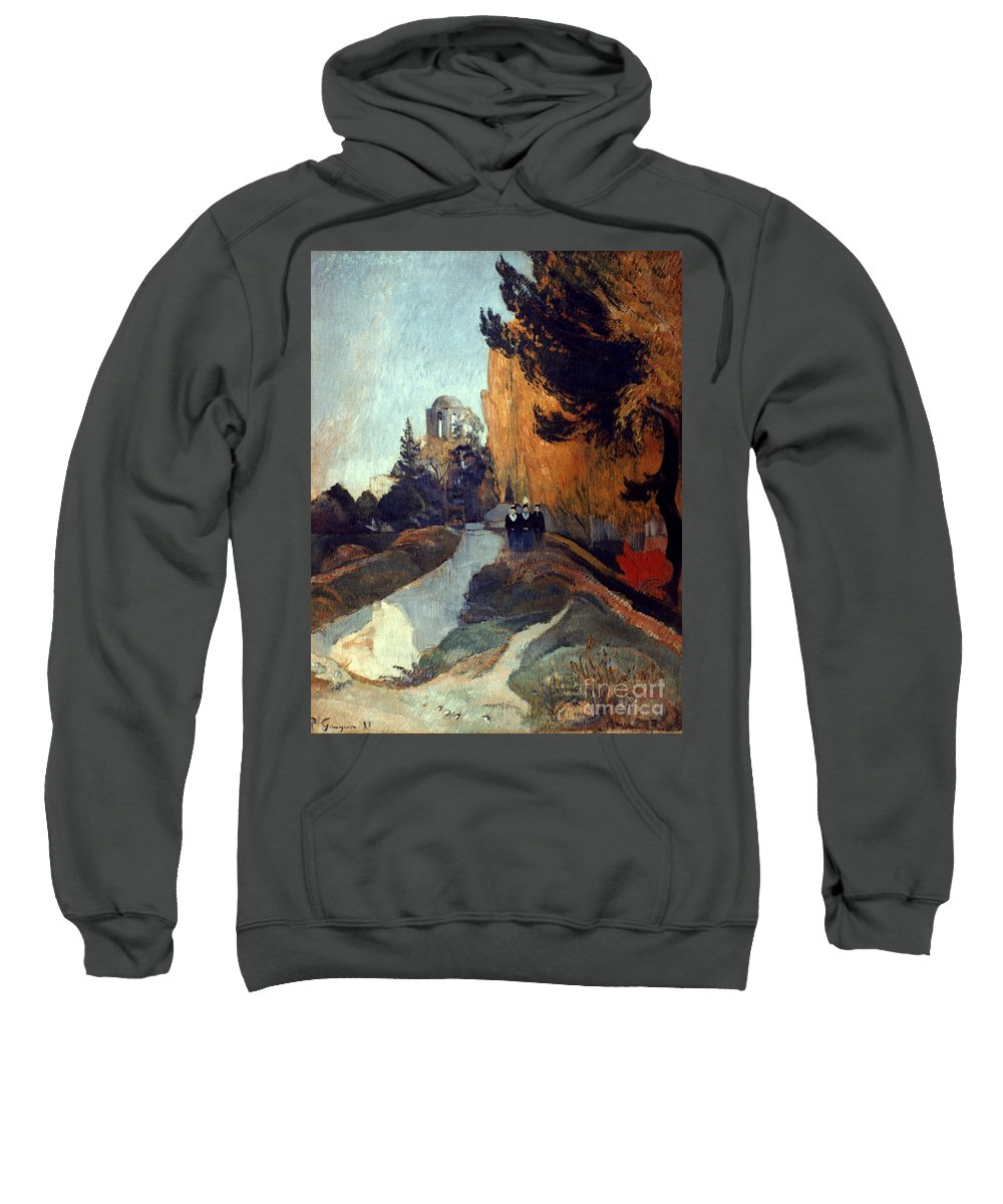 1888 Sweatshirt featuring the photograph Gauguin: Alyscamps, 1888 by Granger